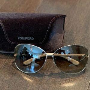 Tom Ford Clemence Sunglasses Gun Metal